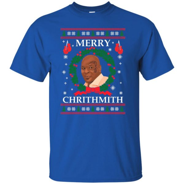 merry chrithmith t shirt - royal blue