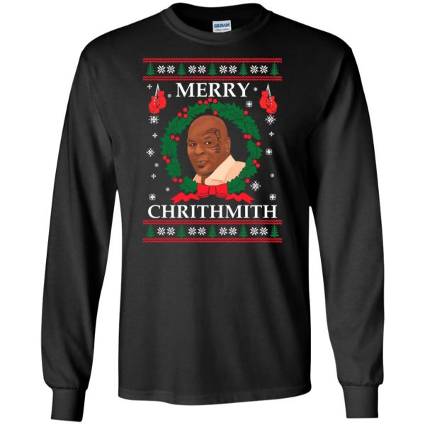 merry chrithmith long sleeve - black