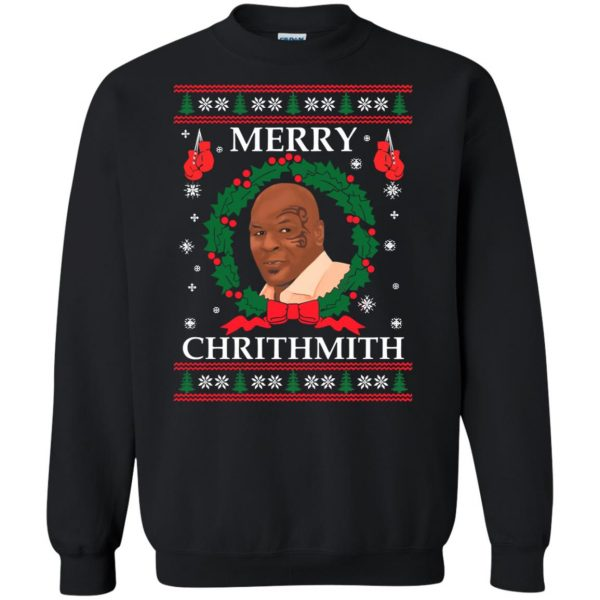 merry chrithmith sweatshirt - black