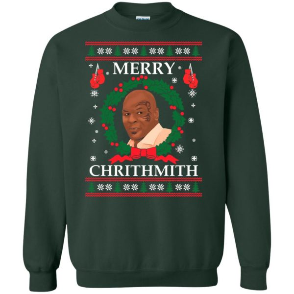 merry chrithmith sweatshirt - forest green