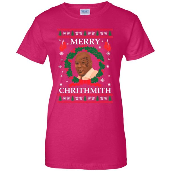merry chrithmith womens t shirt - lady t shirt - pink heliconia