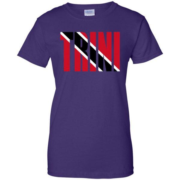 trinidad womens t shirt - lady t shirt - purple