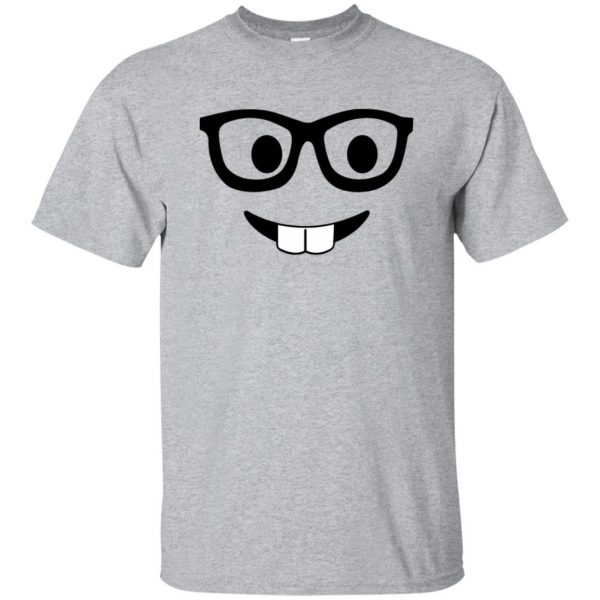 nerd emoji shirt - sport grey
