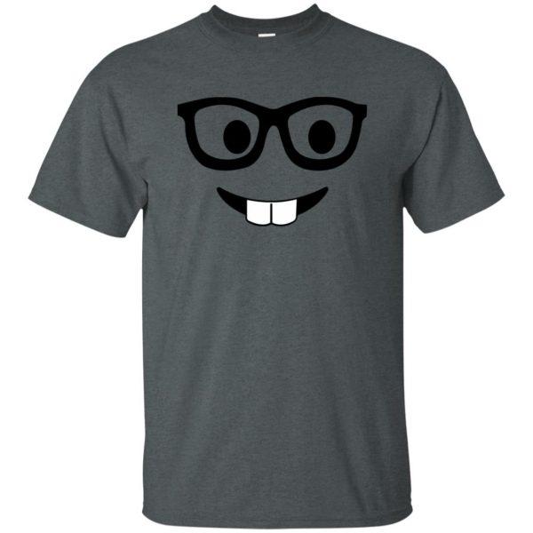 nerd emoji t shirt - dark heather