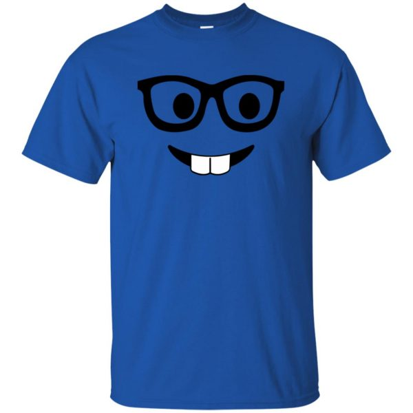 nerd emoji t shirt - royal blue