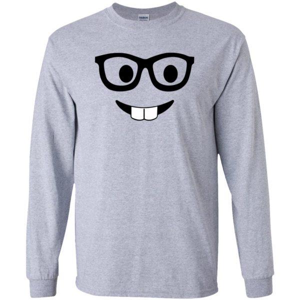 nerd emoji long sleeve - sport grey
