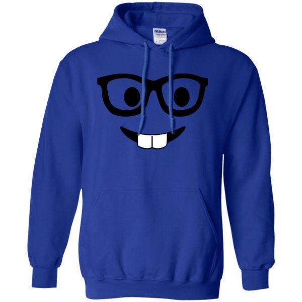 nerd emoji hoodie - royal blue
