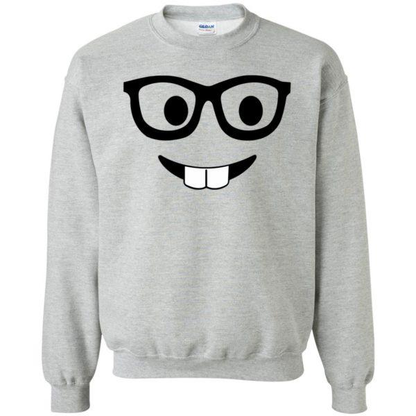 nerd emoji sweatshirt - sport grey