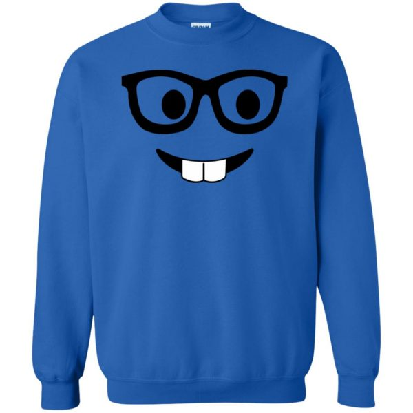 nerd emoji sweatshirt - royal blue