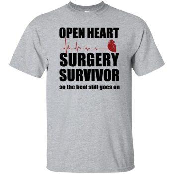 open heart surgery t shirts - sport grey