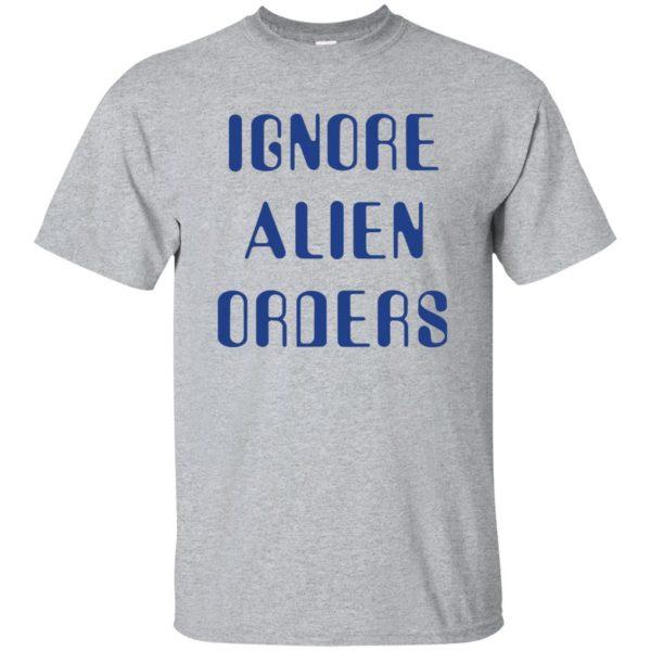 ignore alien orders shirt - sport grey