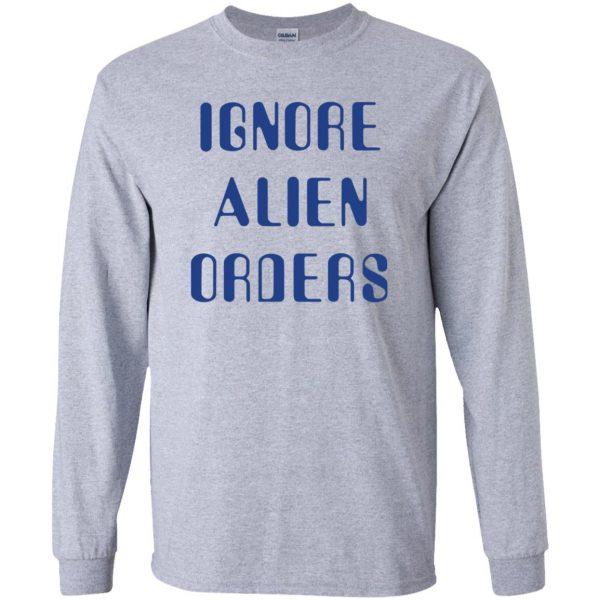 ignore alien orders long sleeve - sport grey