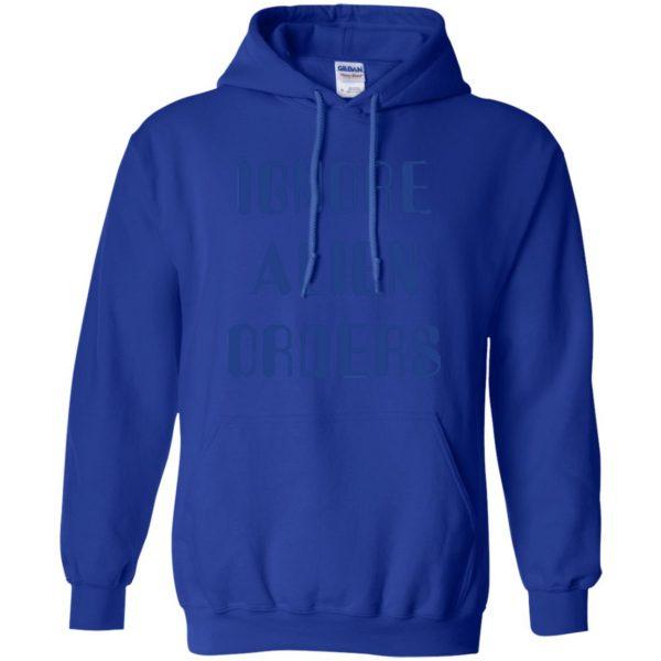 ignore alien orders hoodie - royal blue