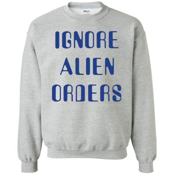 ignore alien orders sweatshirt - sport grey