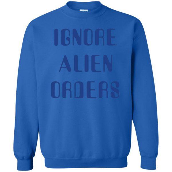 ignore alien orders sweatshirt - royal blue