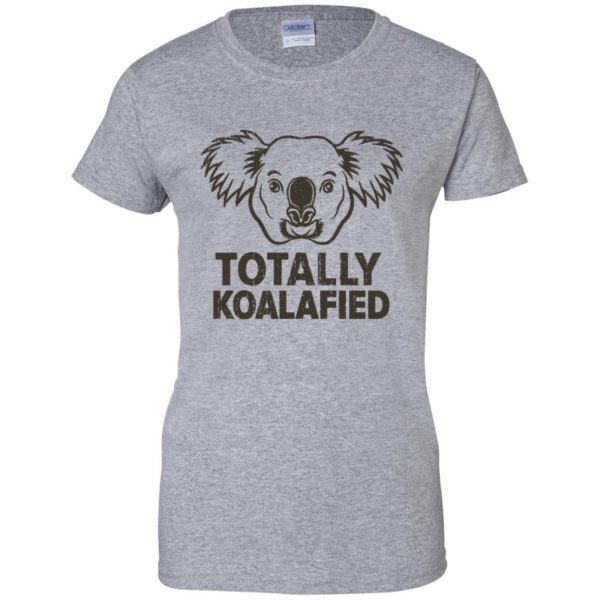 koalafied shirt womens t shirt - lady t shirt - sport grey