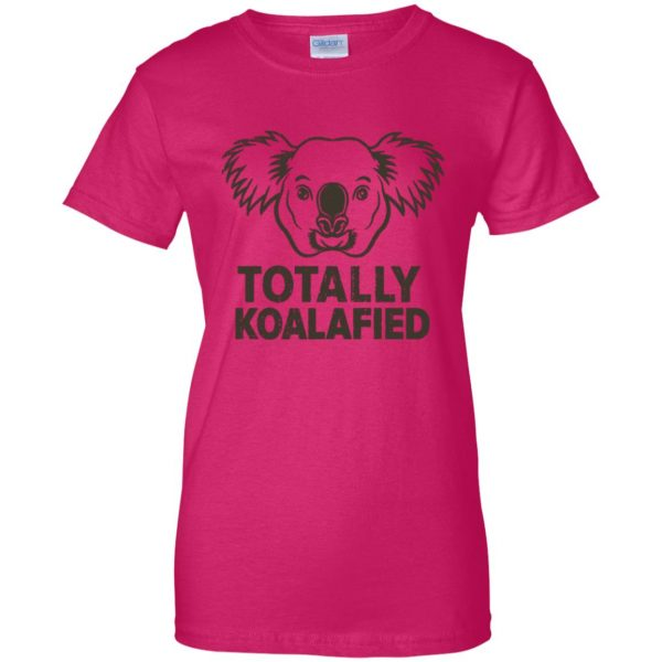 koalafied shirt womens t shirt - lady t shirt - pink heliconia