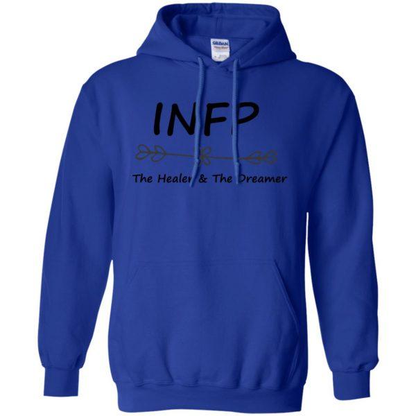 infp hoodie - royal blue
