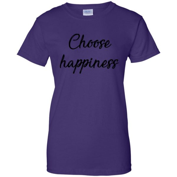 choose happiness shirt womens t shirt - lady t shirt - purple