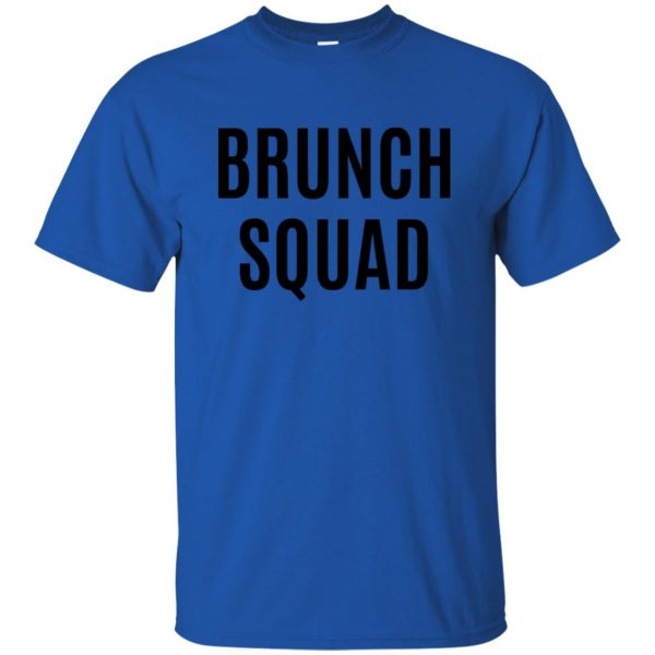 brunch squad t shirt - royal blue