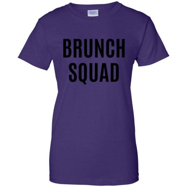 brunch squad womens t shirt - lady t shirt - purple