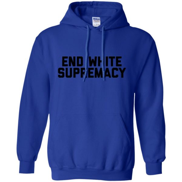 white supremacy shirts hoodie - royal blue