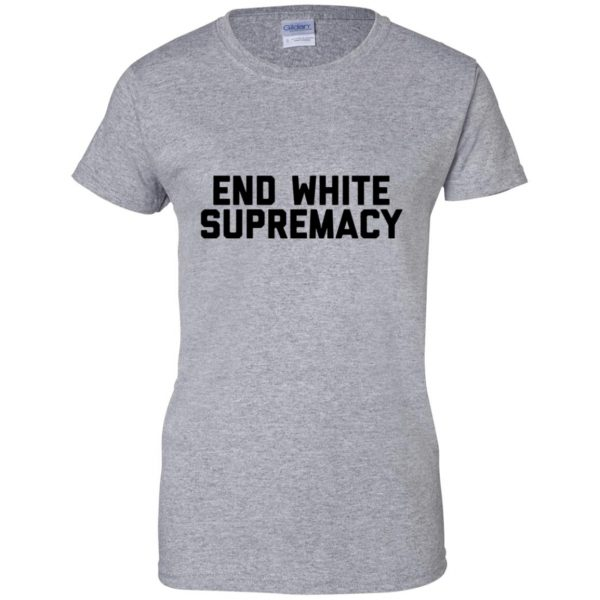 white supremacy shirts womens t shirt - lady t shirt - sport grey
