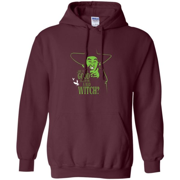 wicked witch hoodie - maroon