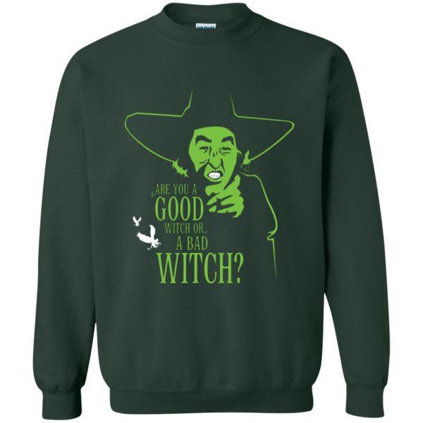 wicked witch sweatshirt - forest green