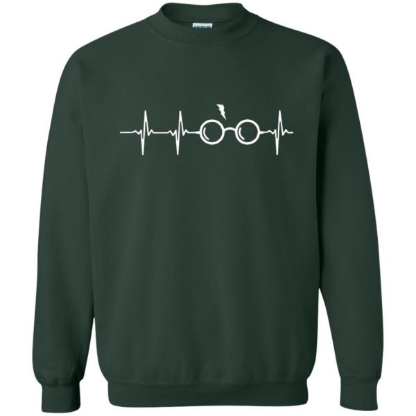 harry potter heartbeat shirt sweatshirt - forest green