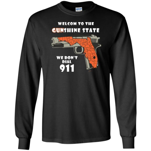 gunshine state shirt long sleeve - black