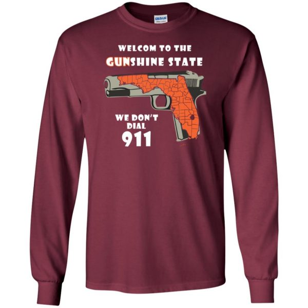 gunshine state shirt long sleeve - maroon