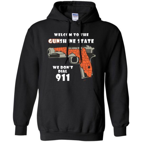 gunshine state shirt hoodie - black