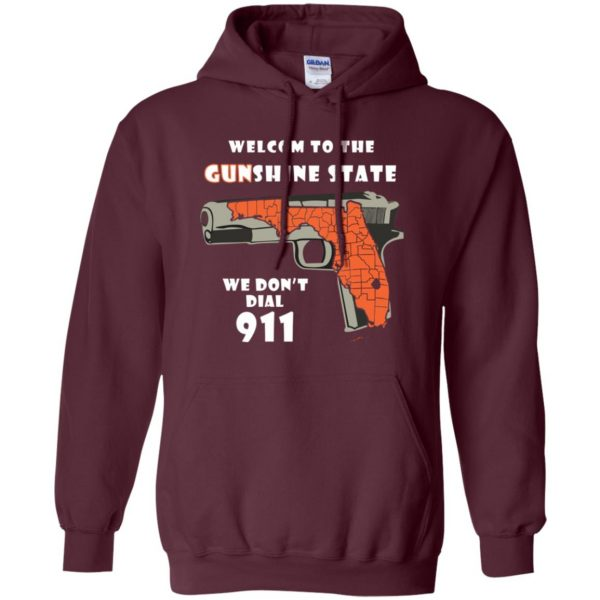 gunshine state shirt hoodie - maroon