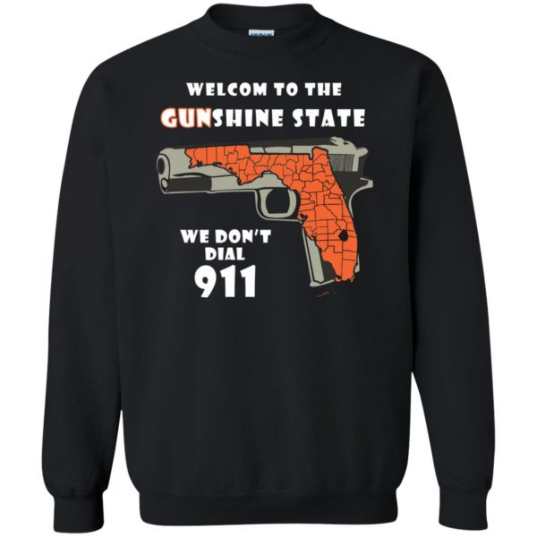 gunshine state shirt sweatshirt - black
