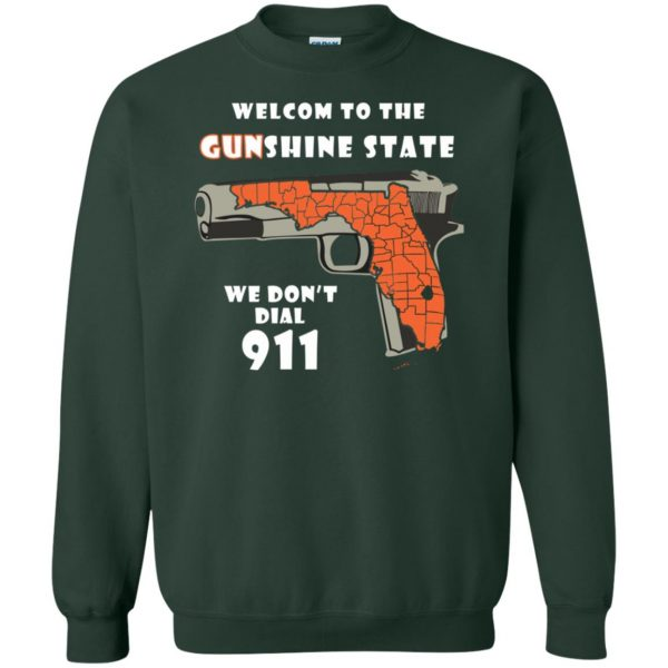 gunshine state shirt sweatshirt - forest green