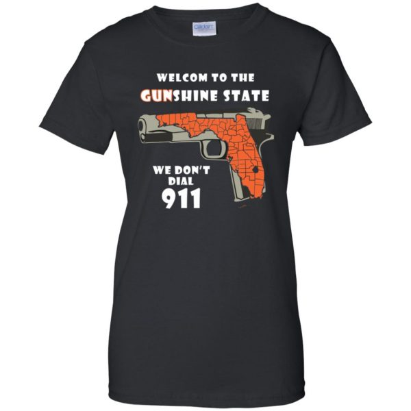 gunshine state shirt womens t shirt - lady t shirt - black