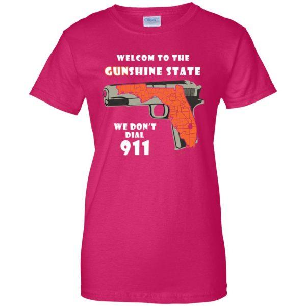gunshine state shirt womens t shirt - lady t shirt - pink heliconia