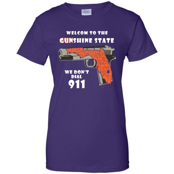 gunshine state shirt womens t shirt - lady t shirt - purple