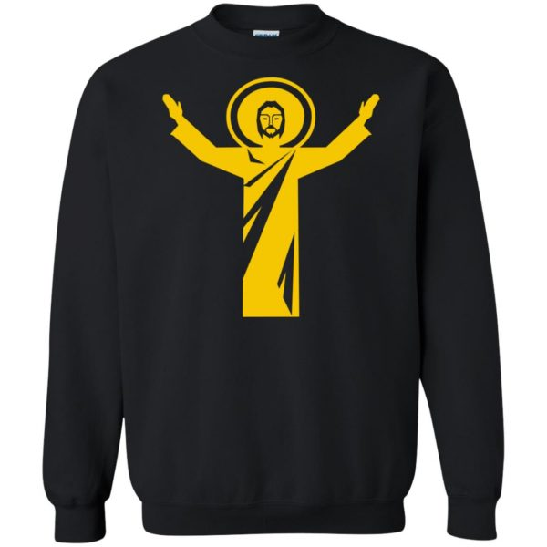 touchdown jesus sweatshirt - black