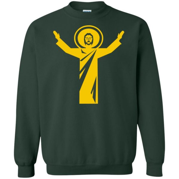 touchdown jesus sweatshirt - forest green