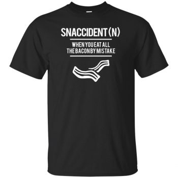 snaccident shirt - black