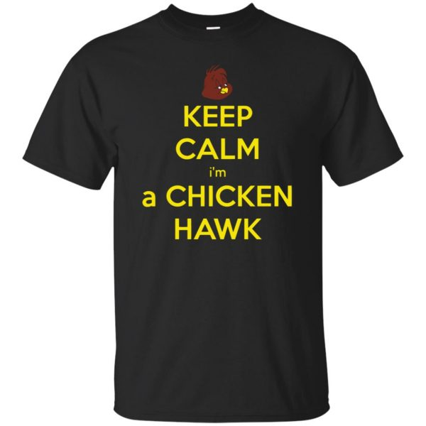 chicken hawk t shirt - black