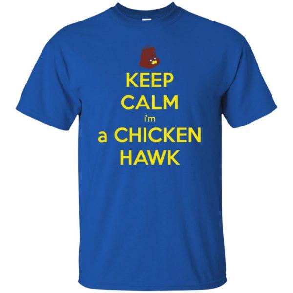 chicken hawk t shirt - royal blue