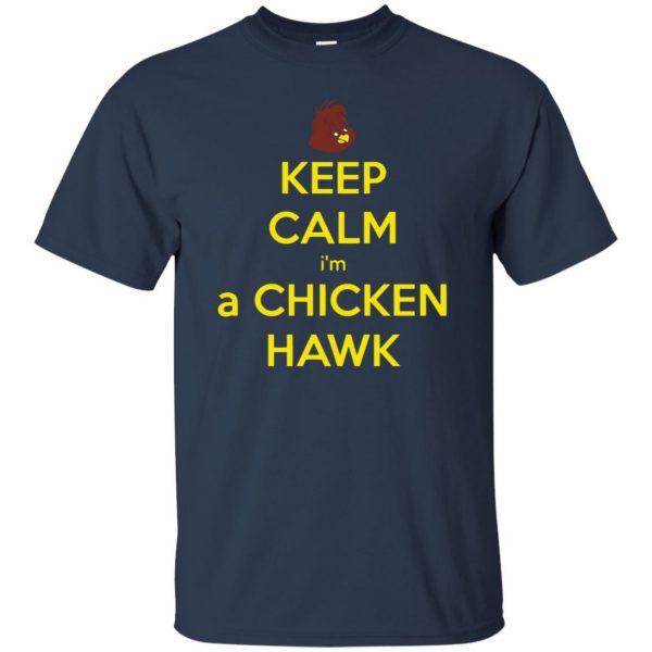 chicken hawk t shirt - navy blue