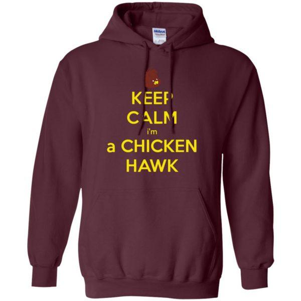 chicken hawk hoodie - maroon