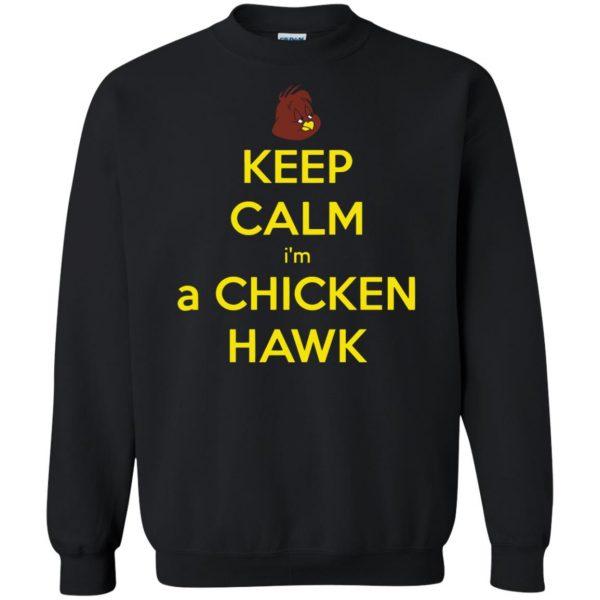 chicken hawk sweatshirt - black