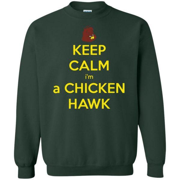 chicken hawk sweatshirt - forest green