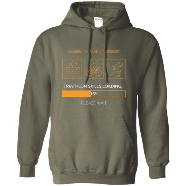 triathlon skills loading hoodie - military green