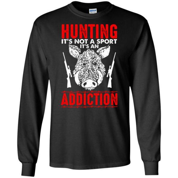 hog hunter shirts long sleeve - black